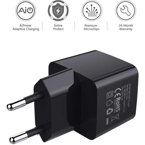 Aukey Oplader met 2 USB aansluitingen