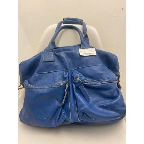 Blauwe cowboy bag