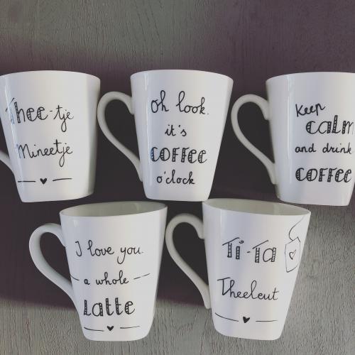 """Koffiemokjes """"mijn blij"""""""