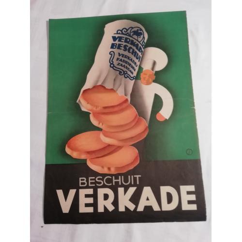 Reclame affiche Verkade Zaandam (1938/1939)