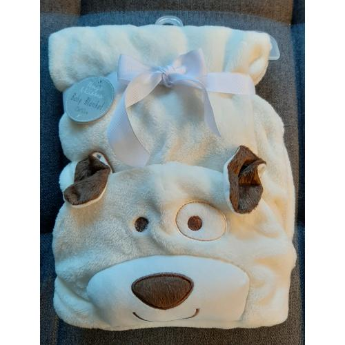 Hooded Baby Blanket Cosy Super Soft Flannel 3D Unisex Toddle