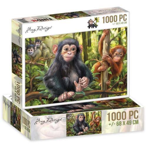 Jigsaw puzzel 1000 pc - Monkeys