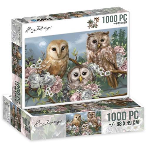 Jigsaw puzzel 1000 pc - Amazing Owls