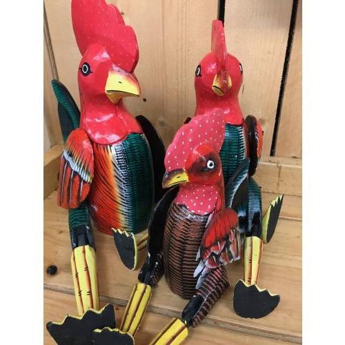Houten kippen