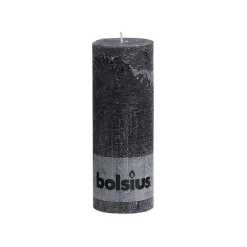 Bolsius Stompkaars rustice 68/190 antracite