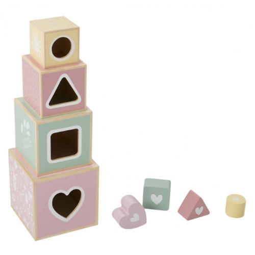 Stapelblokken van Little Dutch roze.