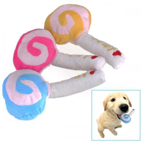 Hondenspeeltje pluche lollypop