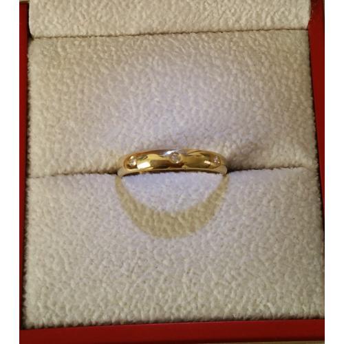 prachtige 10 karaat gouden dames ring maat 17 mm