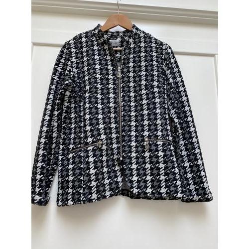 Jasje tricot Angelle Milan zwart/wit ruitje