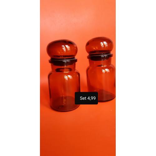 2  vintage apotheker/stolp potten
