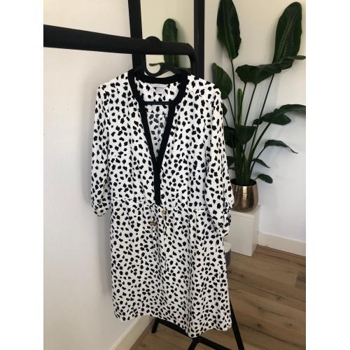 H&M jurk gestippeld maat 36
