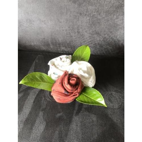 3 bloemen in een terracotta potje