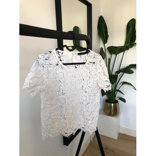 Loavies wit kanten T-shirt maat M