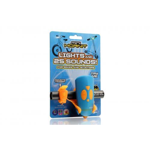 Fietsverlichting met 25 geluidseffecten Blauw Oranje