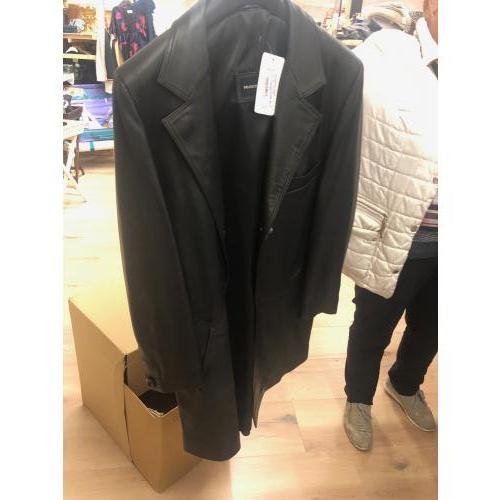 leren jas zwart lang model