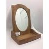 Houten make-up spiegel